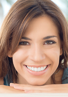 woman smiling after professional teeth whitening